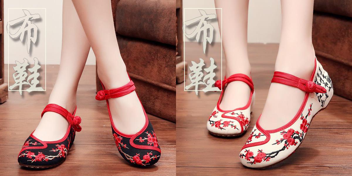 """Giày thêu hoa Trung Quốc giá rẻ """"lên ngôi"""""""